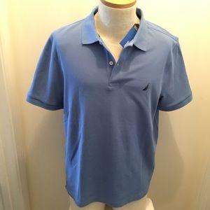 NWT NAUTICA Classic Fit Mens Polo Shirt M Blue